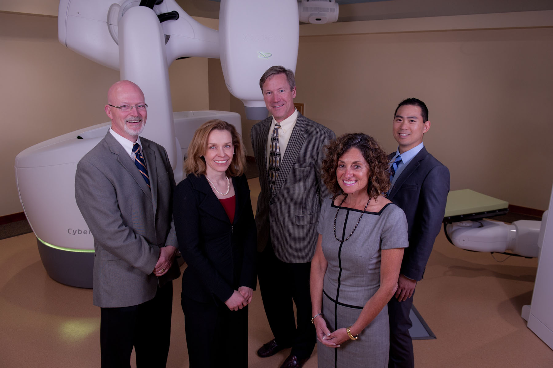 Business Portrait of Radiation Oncology's new CyberKnife Robotic Radiosurgery System at Providence.