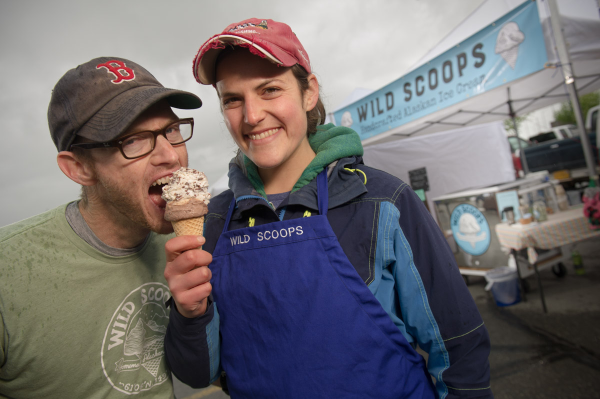 Business Portrait of Chris Pike & Elissa Brown of Wild Scoops Ice Cream Company.