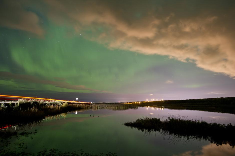 Potter Marsh aurora.