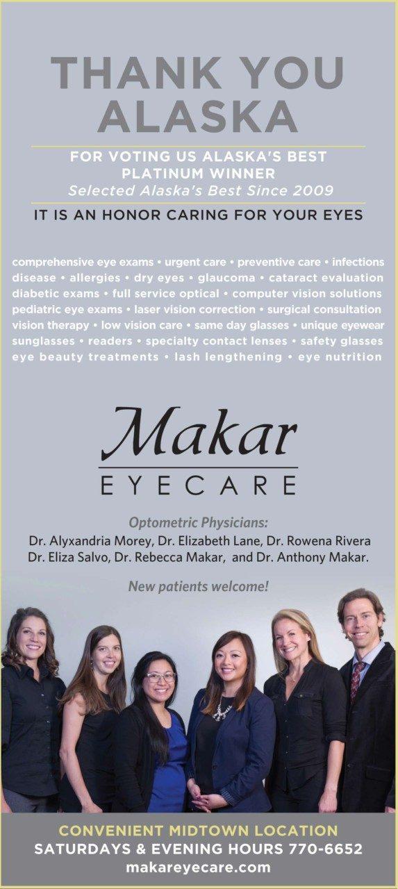 Makar Eyecare staff portrait for print ad.