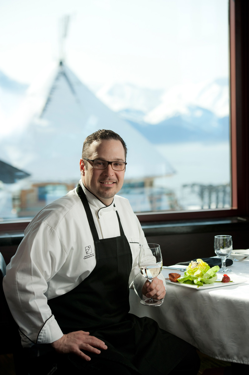 Chef Jason Porter of Seven Glaciers in Girdwood.