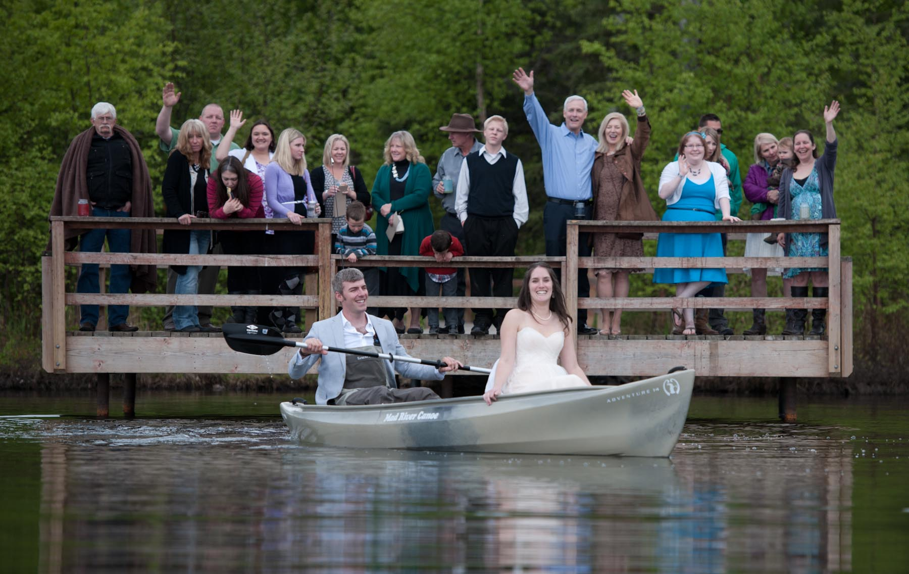 Alaska Destination Wedding Photography at Beach Lake in Chugiak, Alaska