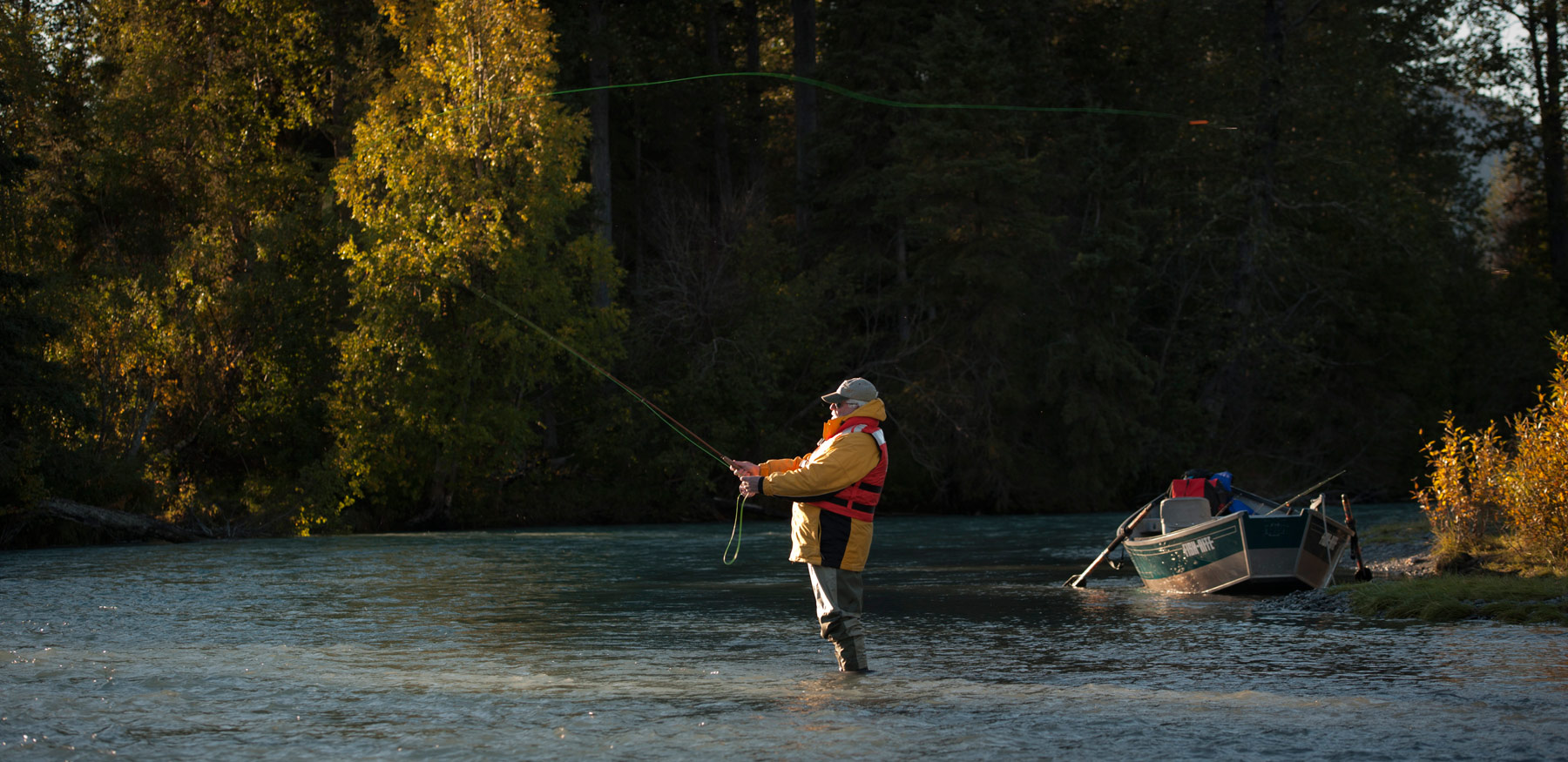 Russian River fly fishing.