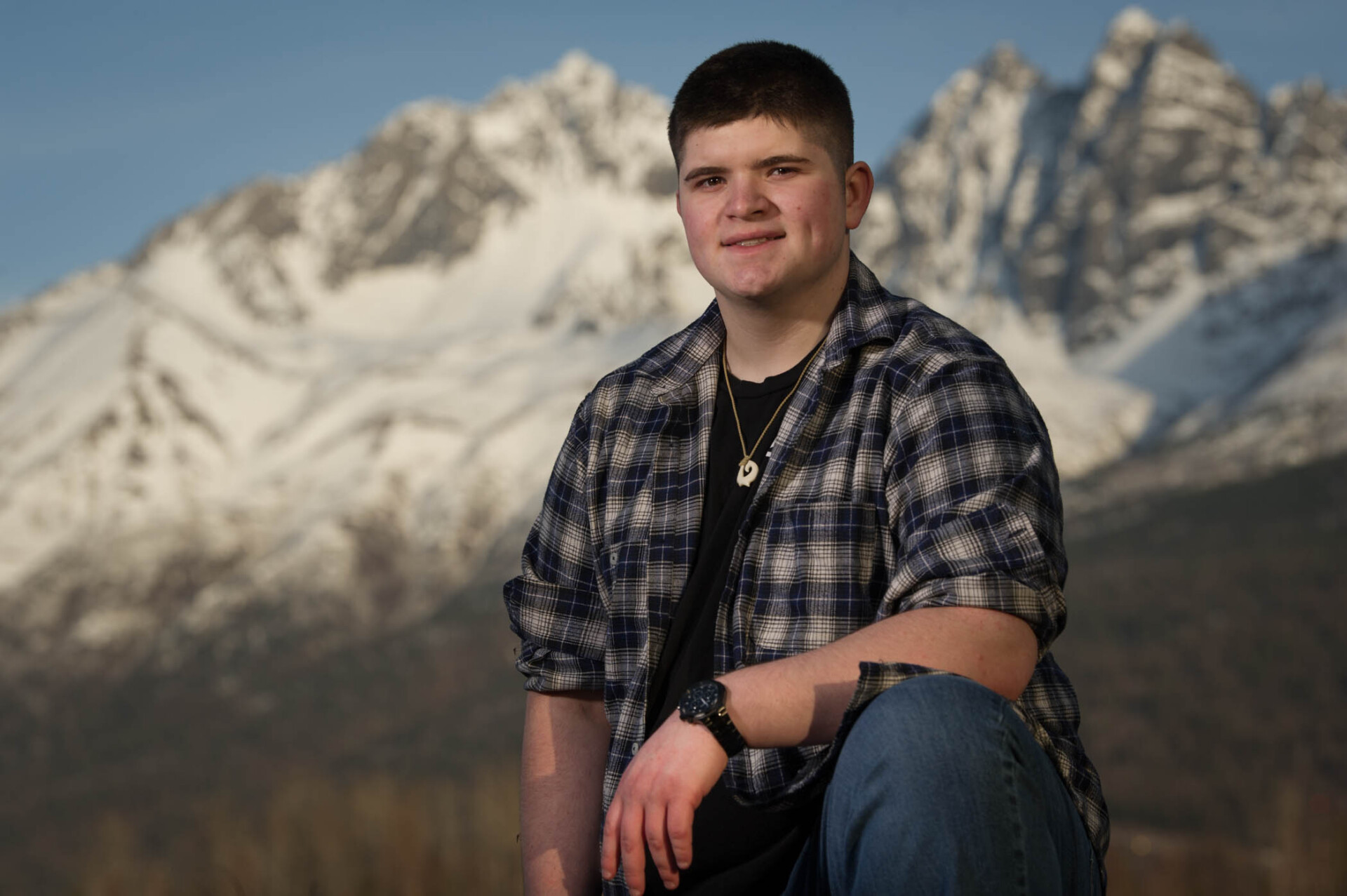 Eric Kibbie of Mat-Su Central School at Reflections Lake.